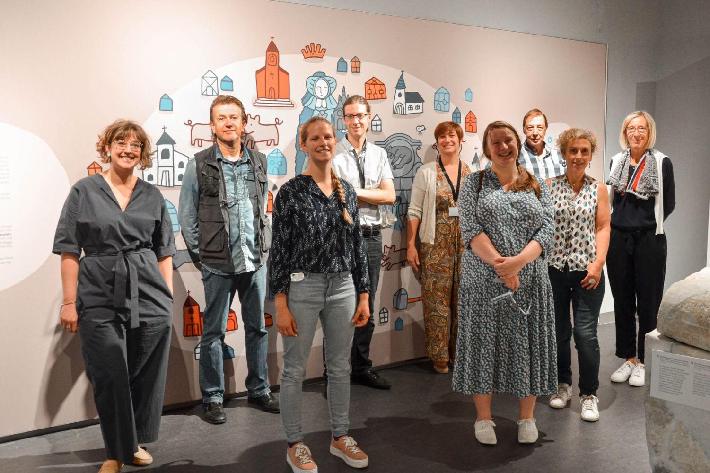 L'équipe du Musée de la céramique, ravie d'ouvrir les portes de l'Espace muséal d'Andenne le 15 juillet dernier.